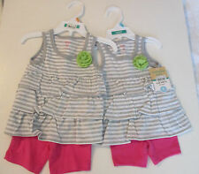 Carter's Baby Girl 2 Piece Short/Top Outfit Size 6 & 12 Months NWT