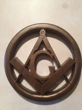 Masonic Square and Compass Wall Relief - MarbleCast
