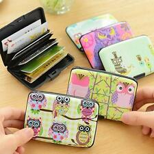 Case Plastic ID Credit Wallet Holder Owl Card Bag Protector