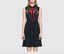 Wholesale 2017 New Paris Fashion Runway New High-End Embroidery Fold Party Dress