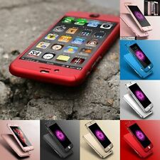 New Hybrid 360° Hard Ultra thin Case + Tempered Glass Cover For iPhone 6 6S Plus