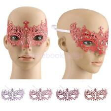 Crystal Rhinestone Lace Venetian Masquerade Eye Mask Fancy Hen Party Game Prop