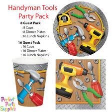 Handyman Tableware Pack Boy Birthday Party Supplies  Cups Plates Napkins