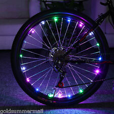Bicycle Cycling Colorful Cool 20 LEDs Safety Spoke Wheel Light Bike Accessories