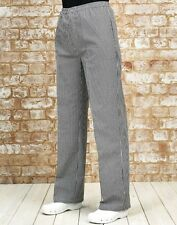 Unisex Pull On Check Chefs Trousers Catering Kitchen Cooking Chef Premier PR552