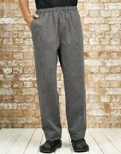 Unisex Elasticated Chefs Trousers Catering Kitchen Cooking Chef Premier PR553