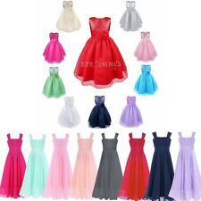 Flower Girl Princess Sequined Dress Kids Party Bridesmaid Tutu Chiffon Dress New