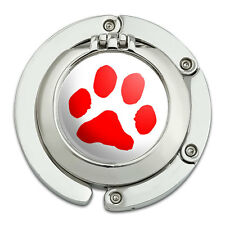 Purse Hanger Hook Compact Mirror Paw Print