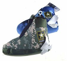 New 2 Pack U.S. Army Eco Friendly Army Boot Dog Squeak Toy- Blue / Green Camo