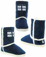 NEW BBC Doctor Who Tardis PLUSH Boots Slippers House Shoes Dr Whoovian S/M/L/XL