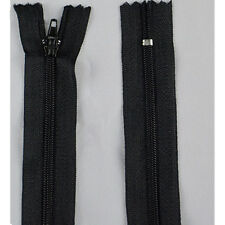 """10pcs Assorted CONCEALED INVISIBLE NYLON ZIPS SEWING CLOSED END ZIPPERS 8.66"""" HU"""