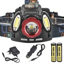 15000LM 3x Cree T6 USB Rechargeable Headlamp HeadLight Torch Lamp+18650+Charger