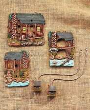 Rustic Log Cabin Hardware Switch Plate Outlet Covers Fan Pulls Ceramic Lodge