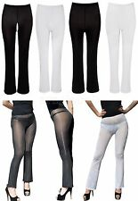 Sexy Women Ladies See Through Trousers Pants Leggings Transparent Sheer Skinny
