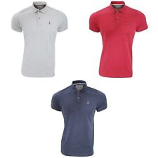 Lee Cooper Mens Dalberg Cotton Mix Lightweight Short Sleeved Polo Shirt