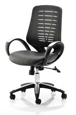 SPRINT Luxury Leather And Mesh Task Operator Office Swivel Chair