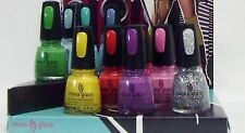 China Glaze Nail Polish Color ELECTROPOP Collection Variations # 1032-1040