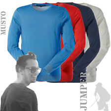Musto MK1210 Mens Ambrose Crew Neck Knitted Cotton Jumper (2 Cols)
