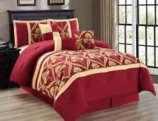 11-Piece Perris Burgundy/Gold Bed in a Bag w/500TC Cotton Sheet Set