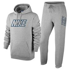 Nike Mens Full Tracksuit Hoody Hooded Jacket Top & Jogging Bottoms - Silver Grey