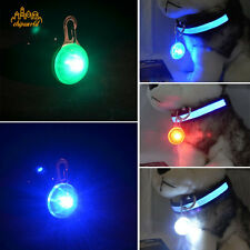 1Pc Safety Round Flashing Glow Blinking LED Tags Collar Pendant Pet Dog Puppy