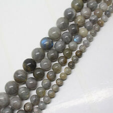 6-12mm Natural Labradorite Round Gemstone Jewelry Making DIY Beads 15""
