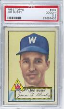 1952 Topps #309 Jim Busby PSA 2.5 Washington Senators Baseball Card