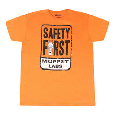 The Muppets Safety First Beaker Head Men's Orange T-shirt New Sizes L-XL