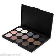 Natural 15 Colors Long Lasting Makeup Pearly Eyeshadow Cosmetics