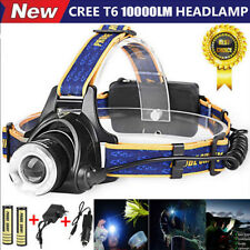 10000LM Rechargeabl 18650 Cree XM-L T6 LED Headlamp Headlight Head Light Lamp