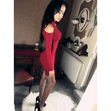 New Sexy Women Off Shoulder Bodycon Clubwear Cocktail Party Evening Mini Dress