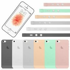 New Ultra-Thin 0.18mm Soft Matte Frosted Gel TPU Case Cover Skin For iPhone 5 5S
