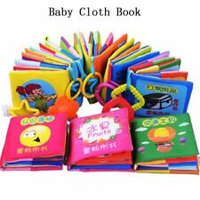 Teether Infant Cognize Educational Toy Cloth Book Baby Early Reading