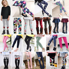Children Kids Girl Winter Warm Thick Fleece Leggings Cotton Lined Trousers Pants