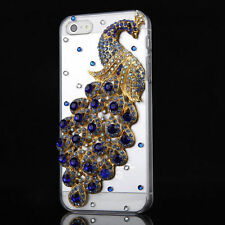 Luxury 3D Bling Diamond Peacock Transparent Case Cover For iPhone 4 4S 5 5S/SE