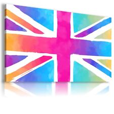 """AB24 UK FLAG Canvas Wall Art Abstract Picture Large Print  30X18"""""""