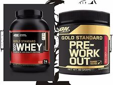 Optimum nutrition 100% gold standard whey protein 2.2kg & Free ON Pre- Workout!