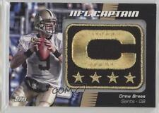 2012 Topps NFL Captain's Patch #NCP-DB Drew Brees New Orleans Saints Card