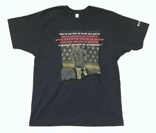 Crosby Stills Nash & Young George W Bush Quote Blue T Shirt New Official CSNY
