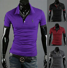 Short Sleeve POLO Shirt Slim Fit Mens Casual Style Tops Tee New T-shirt Fashion