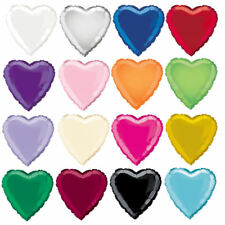 """18"""" Foil Heart Balloon - 16 Colours To Choose - Helium Quality Party Wedding"""