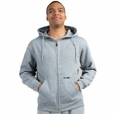 Vibes Mens Light Gray Fleece Zip Up Hoodie Sweatshirt, Kangaroo Pockets