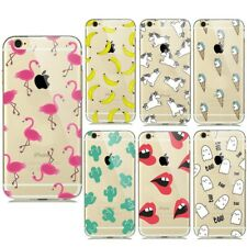 Transparent Silicone Soft TPU Cases for iPhone 7 Plus 6 6s 5 5S SE