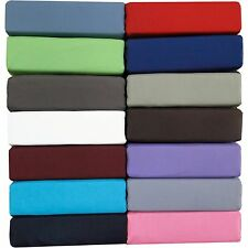 """400-Thread-Count 1PC Super Soft Fitted Sheet Solid 100% Cotton 34"""" Deep Pocket"""