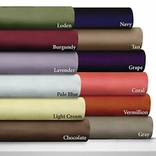 """600-Thread-Count 1PC Soft Fitted Sheet Solid 100% Cotton 13"""" Extra Deep Pocket"""