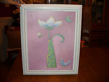 Flower Butterfly Bee Painting Floral Whimsy Pink Sublime E J Brian