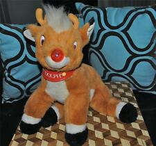 """Rudolph the Red Nosed Reindeer 1998 Musical Plush Prestige 16"""" Rare CUTE"""