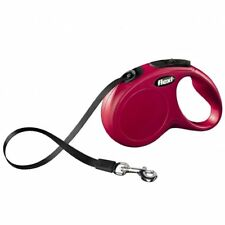 Flexi NEW Classic Retractable Tape Dog Lead Red