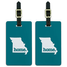 Missouri MO Home State Luggage Suitcase ID Tags Set of 2