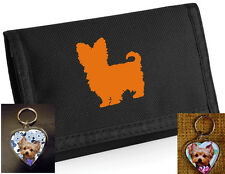 Yorkshire Terrier Dog Gift Pack - Dog Wallet and heart shaped keyring Xmas Gift